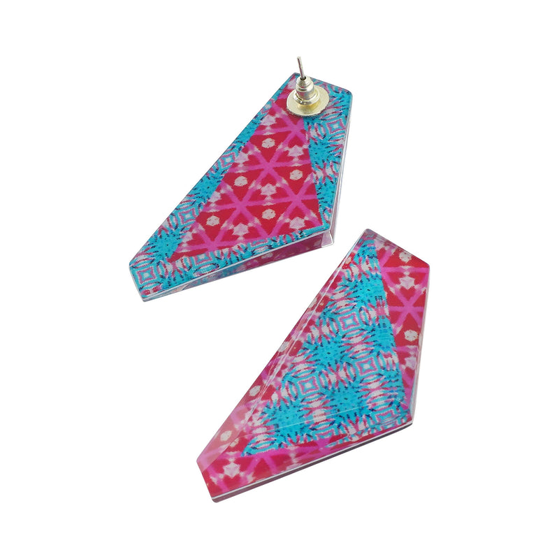 Patterned Resin Earrings