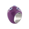 Purple Resin Ring w/ Crystals