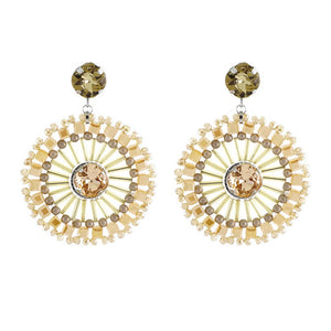 Beige Crystal Earrings