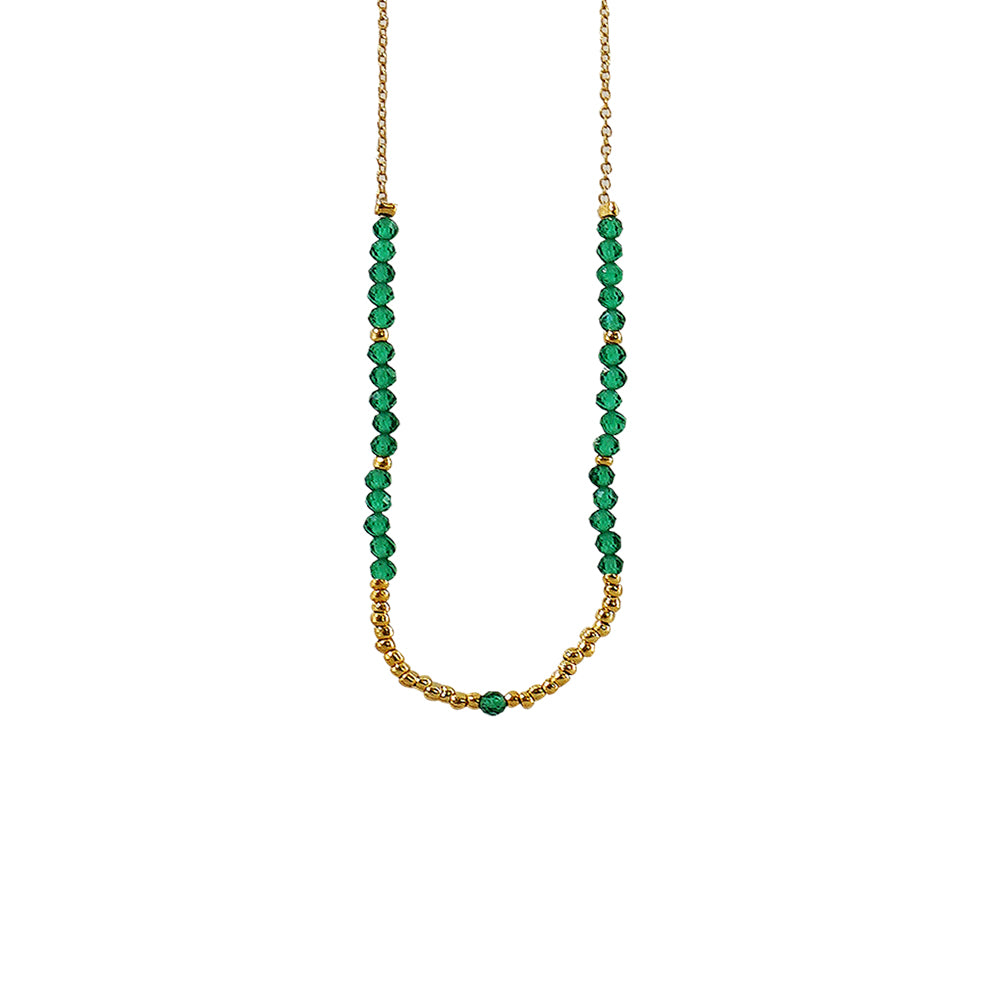 Golden Necklace w/ Green & Golden Details