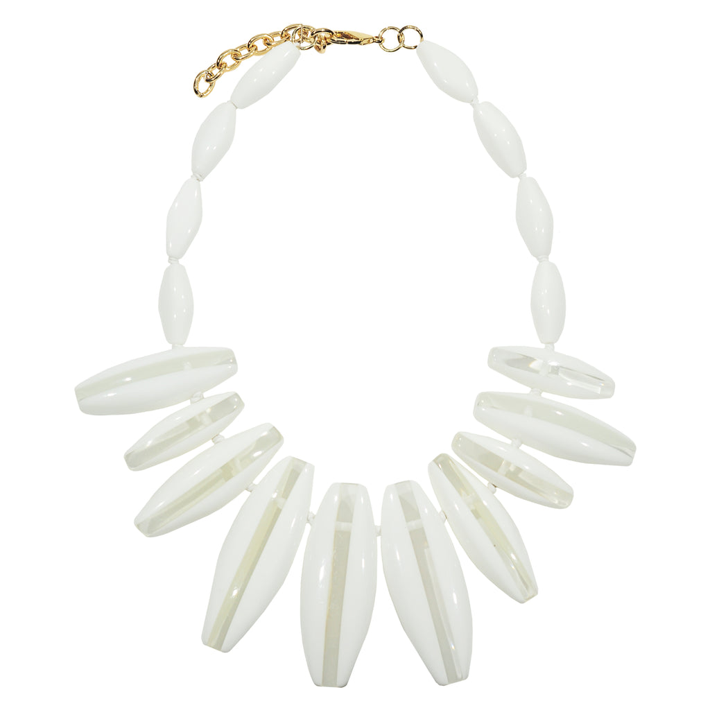 White & Transparent Resin Necklace