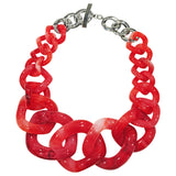 Light Red Resin Necklace