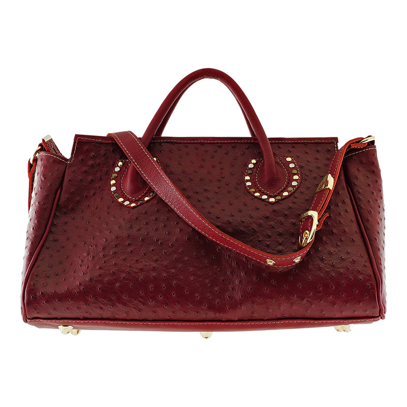 Crimson Leather Bag