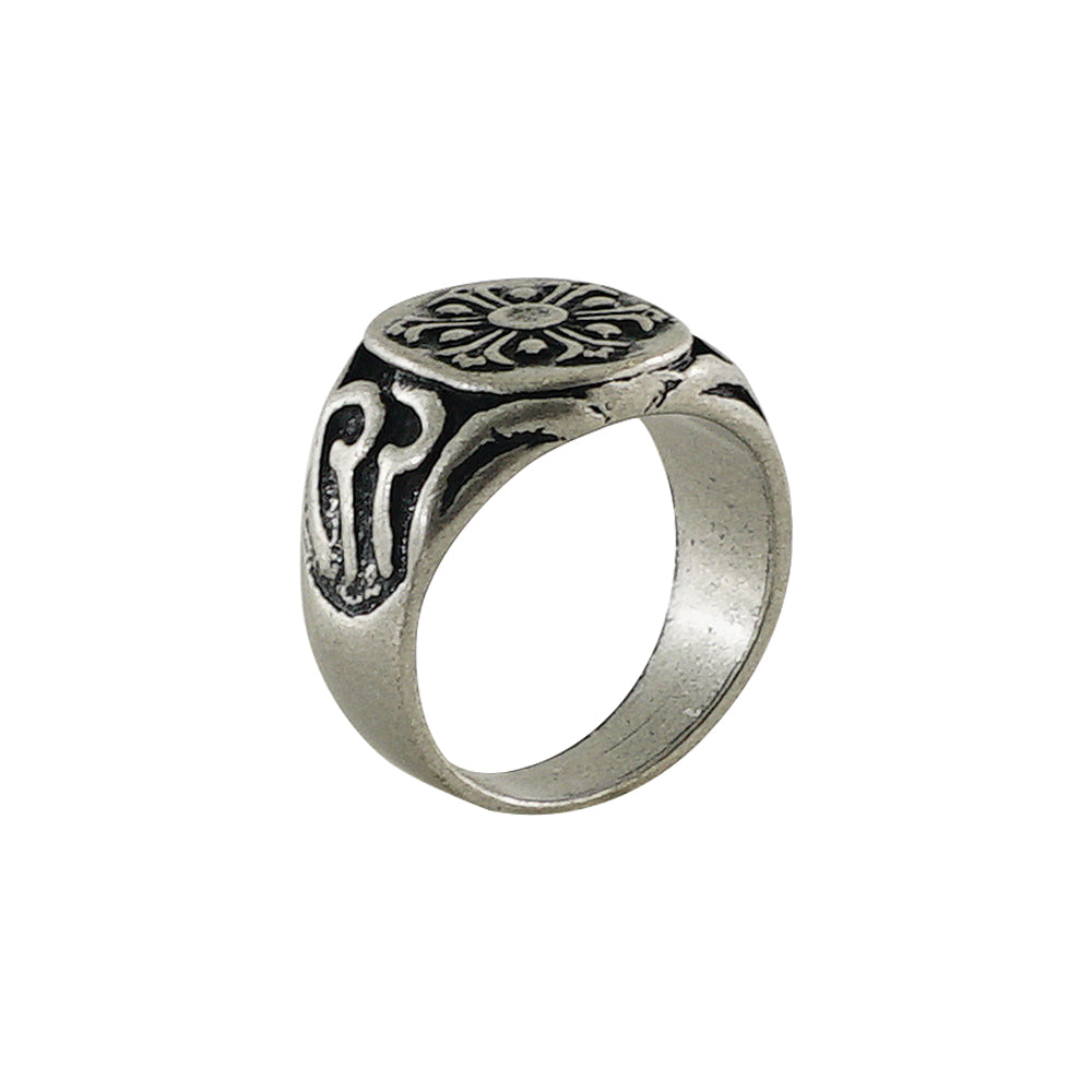 Engraved Silver Plated Ring