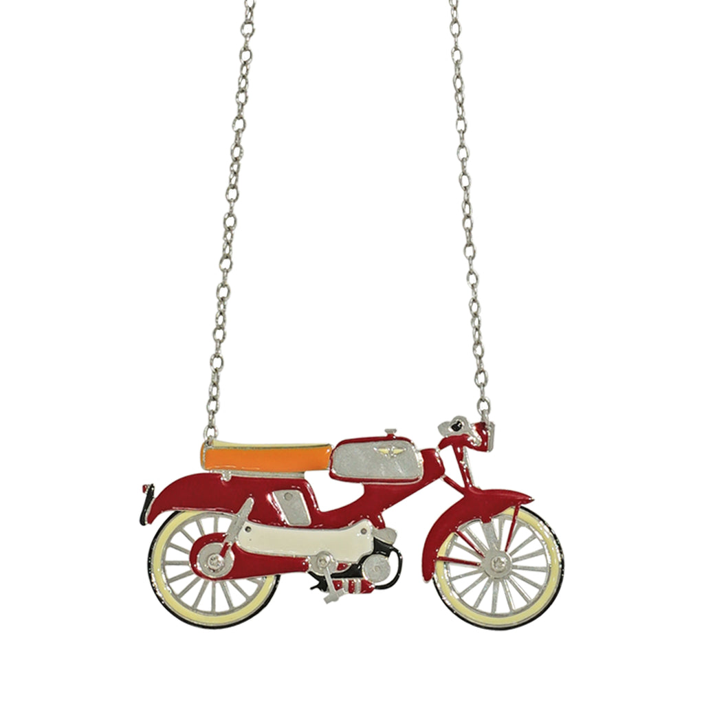 Red Motorcycle Necklace
