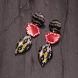 Multicolor Wood Earrings