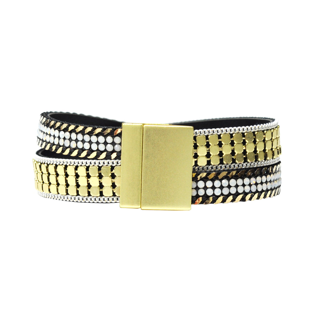 Gold Bracelet with Two Rows