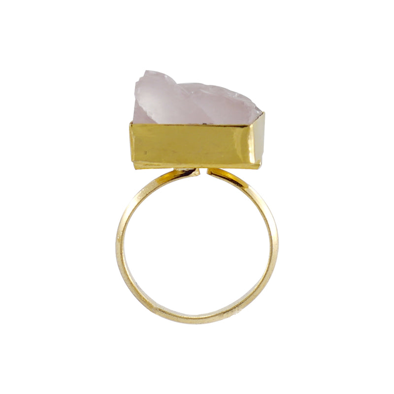 Golden Ring w/ Rose Stone