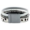 Bracelet w/ Gunmetal Pieces & Pattern