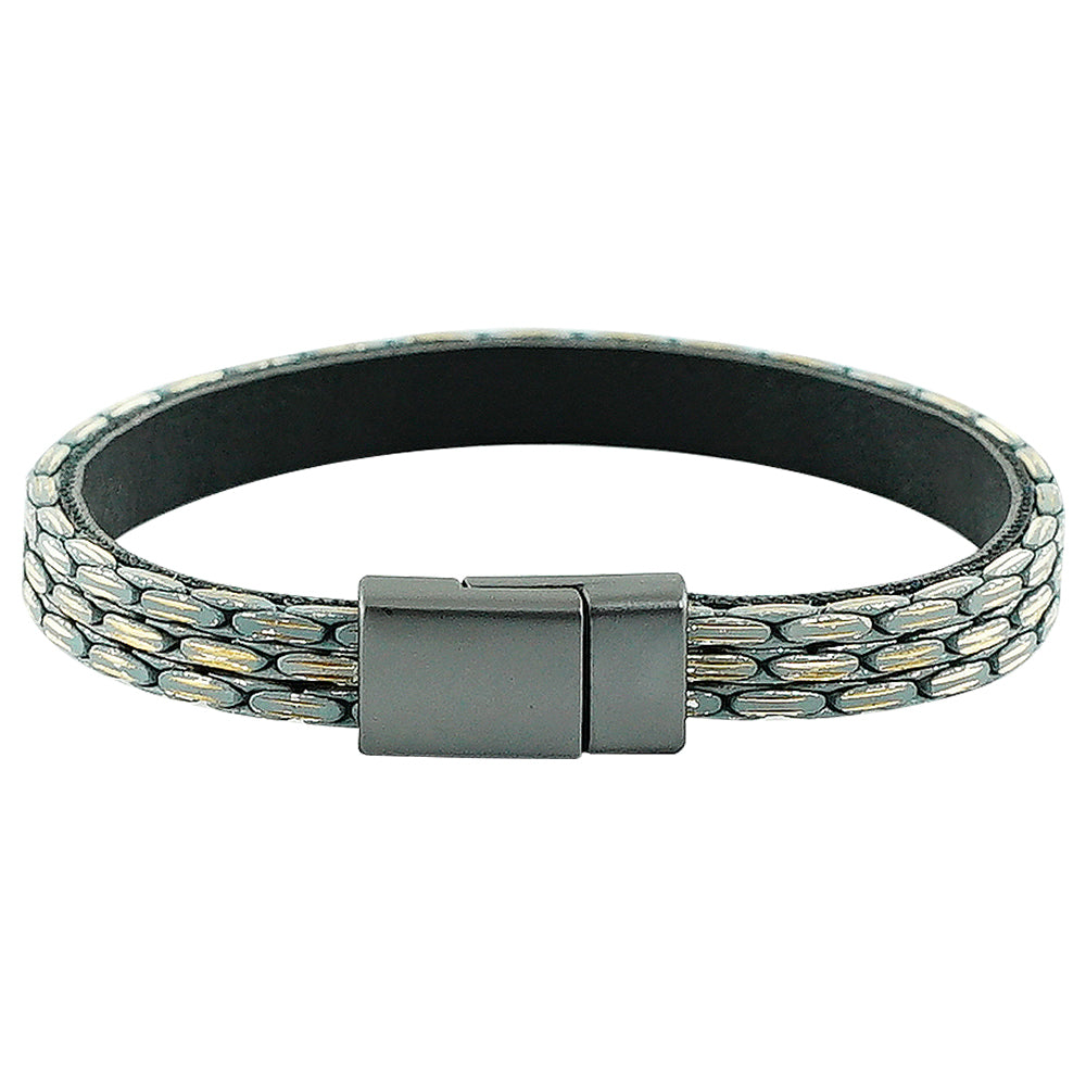 Gunmetal Bracelet w/ Grey Chains