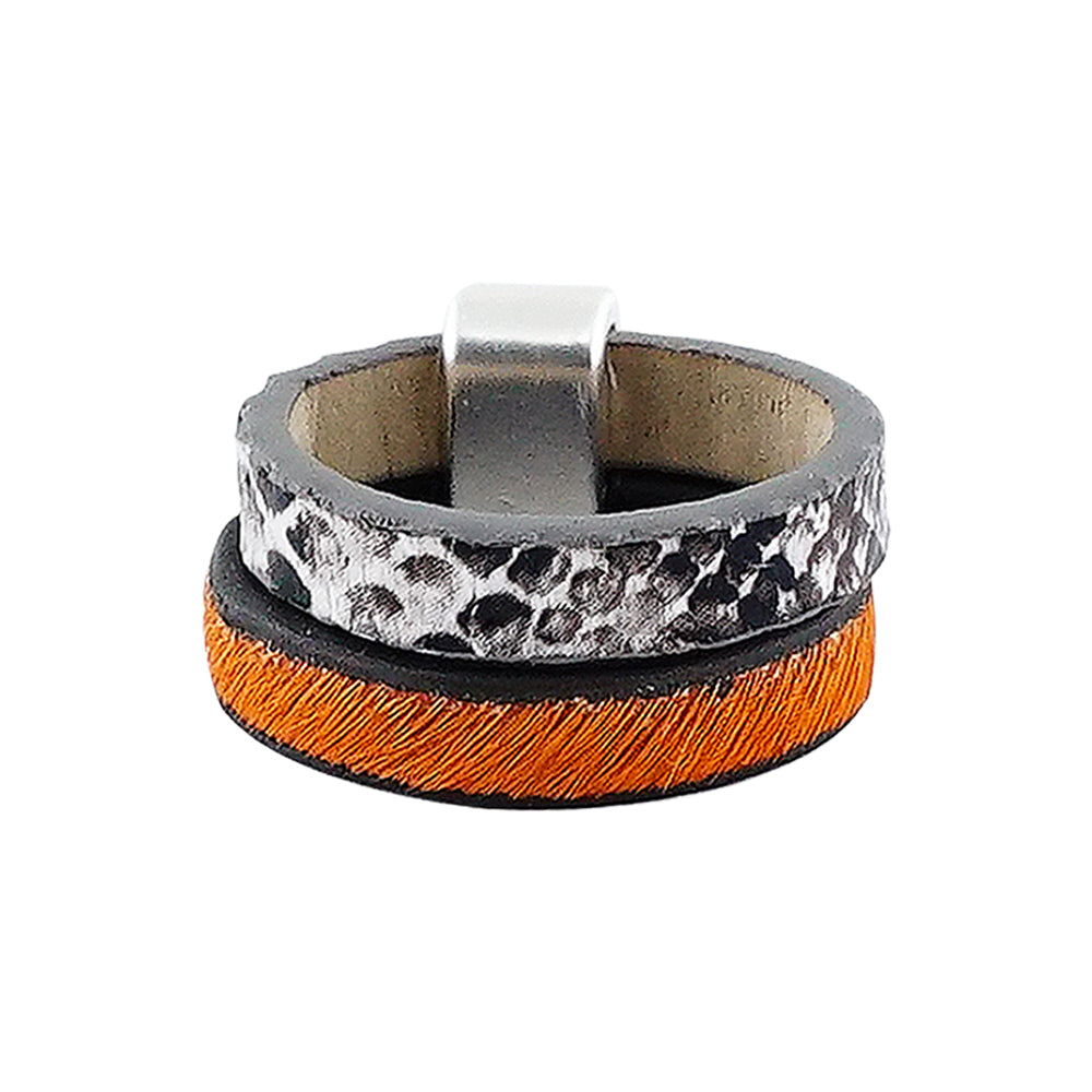 Orange Fur Ring w/ Pattern
