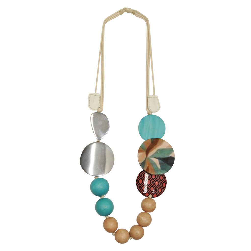 Necklace with Multicolor Pendants
