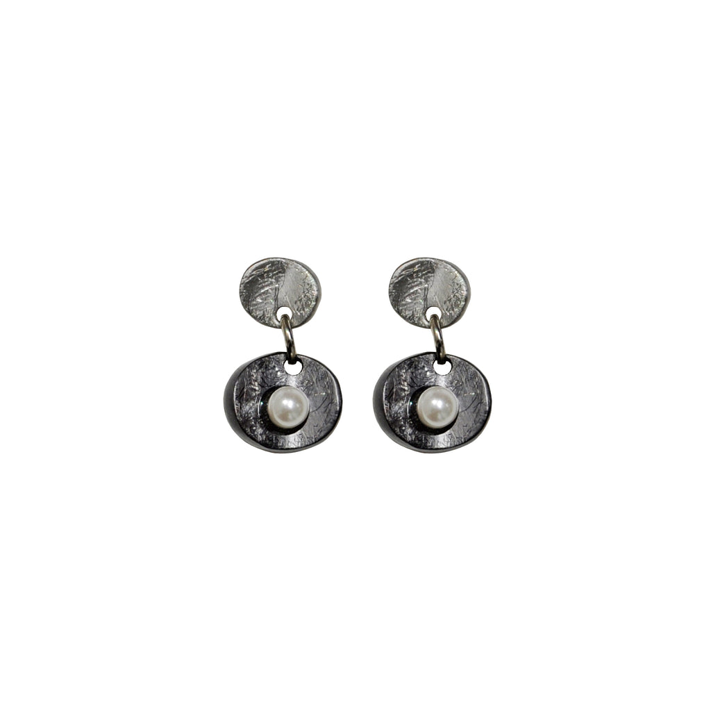 gunmetal earrings lane crystal twentyeight grey thora