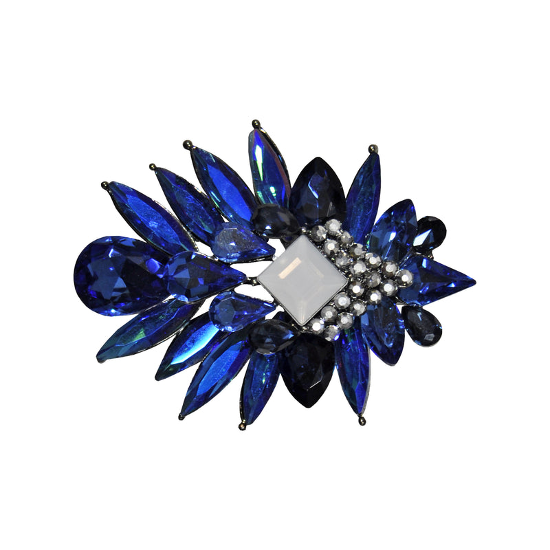 Blue Crystals Brooch