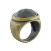 Brass & Grey Metal Ring