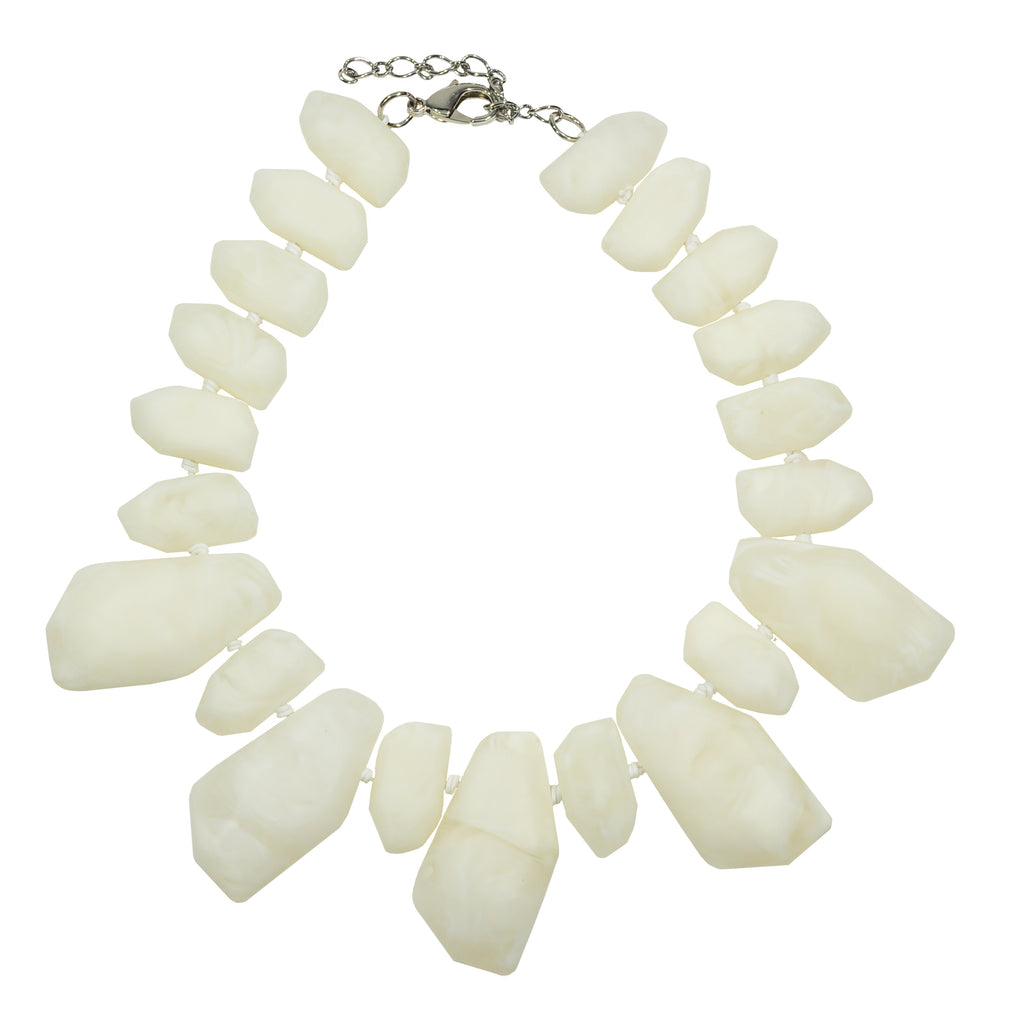 White Resin Necklace