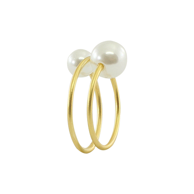 Golden Ring w/ Cultured Pearls