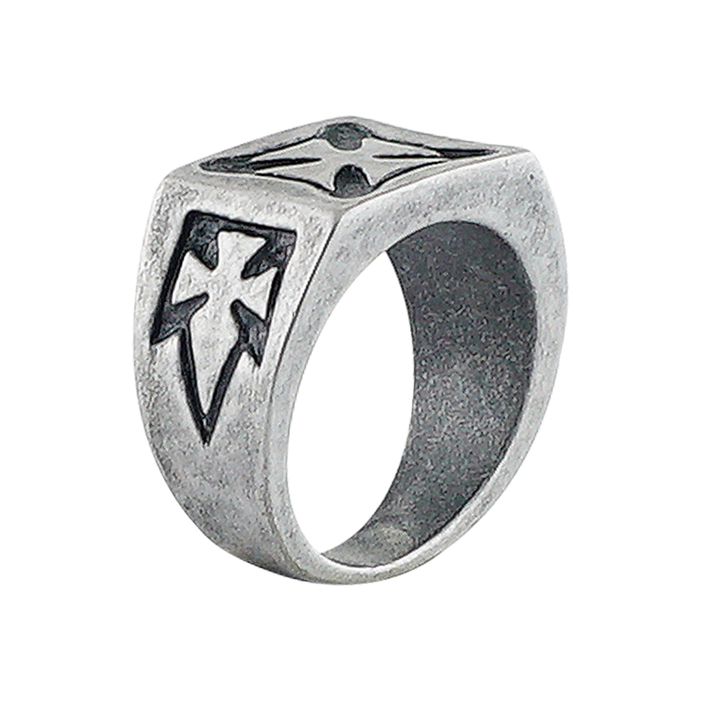 Silver Plated Ring w/ Crosses