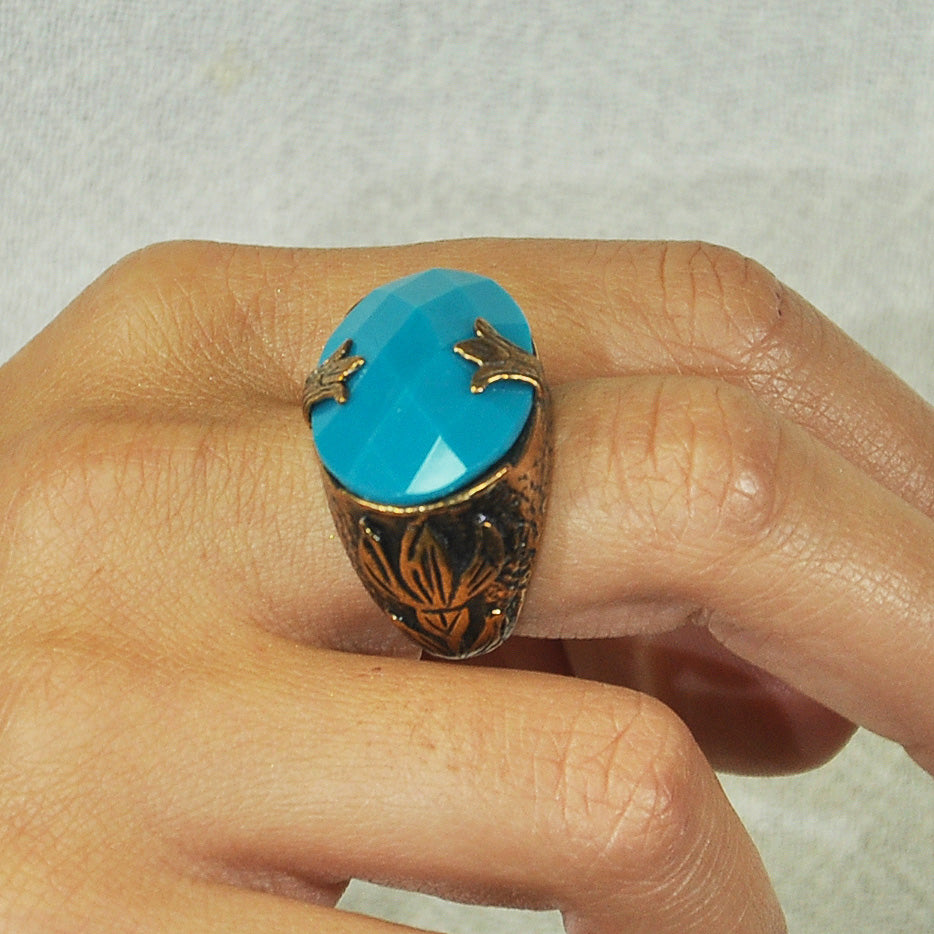 Brass Ring w/ Turquoise Stone