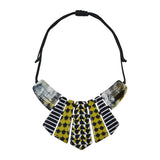 Patterned & Horn Necklace