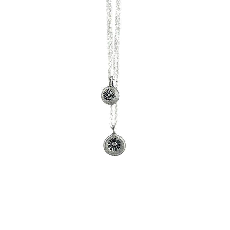 Silver Necklace w/ Pendants