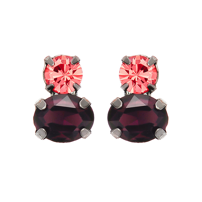 Red & Violet Crystal Earrings