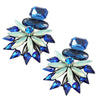 Blue & Green Crystal Earrings