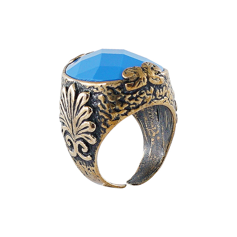 Brass Ring w/ Blue Stone