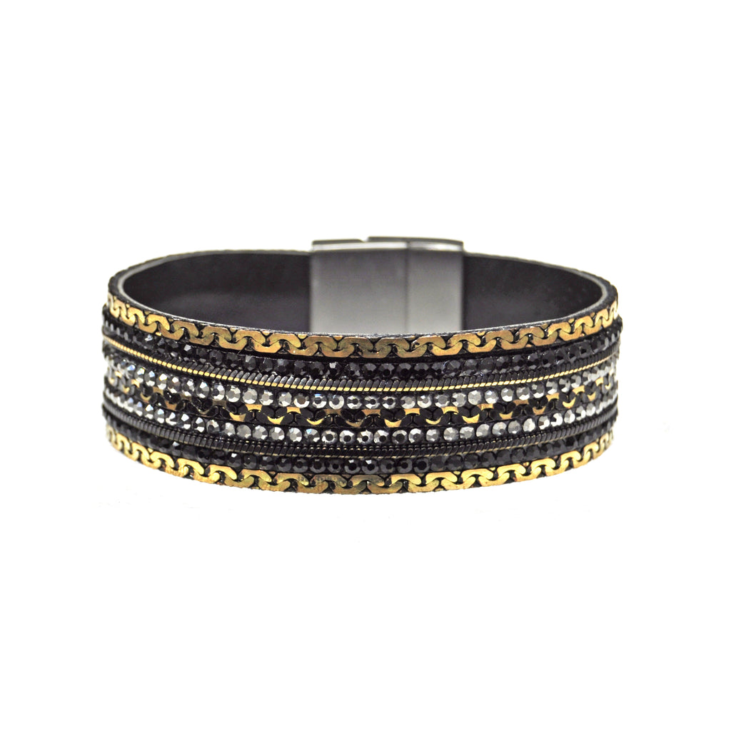 black pedra collections bracelet dura products gold all