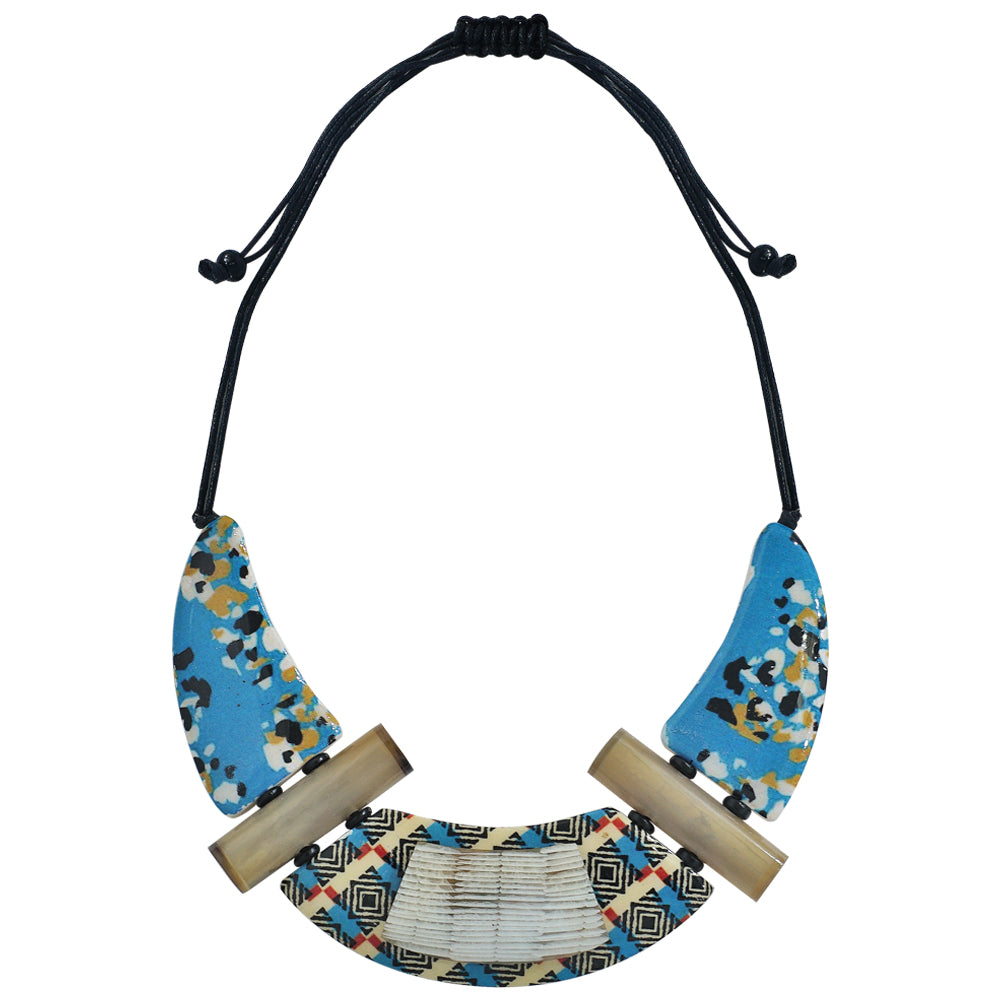 Horn Necklace w/ Patterns