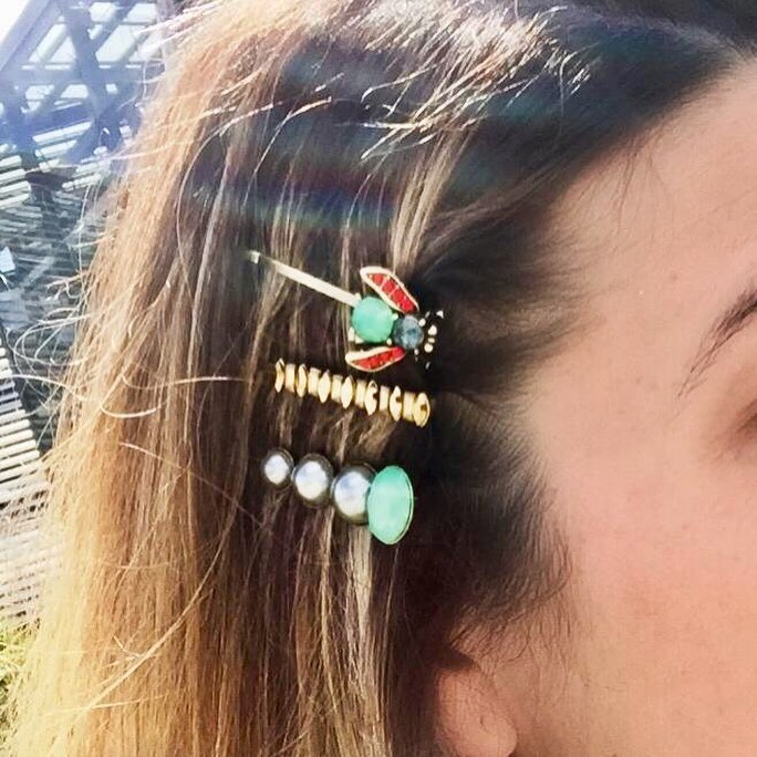 Crystal Bug Hairclip