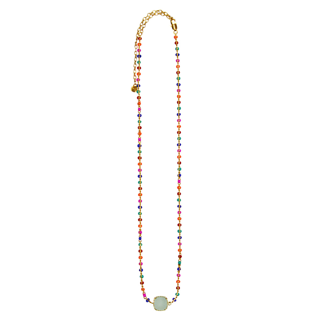 Multicolor Necklace with Crystal