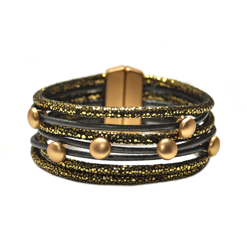 Gold & Dark Grey Bracelet
