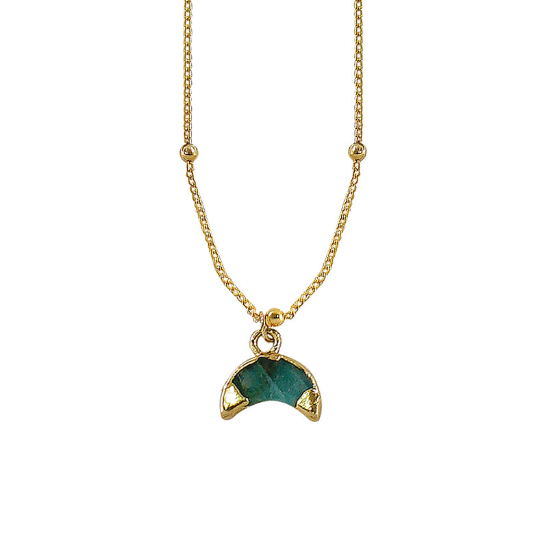 Golden Necklace w/ Blue Stone