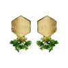 Golden Earrings w/ Green Stones