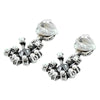 Silver Earrings w/ Cultured Pearls & Crystal