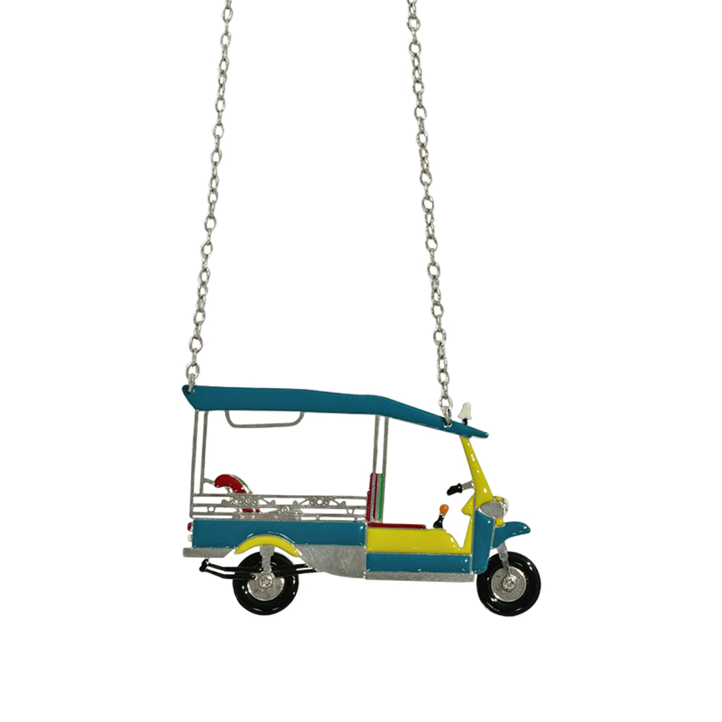 Yellow & Blue Rickshaw Necklace
