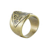 Brass Ring w/ Cross
