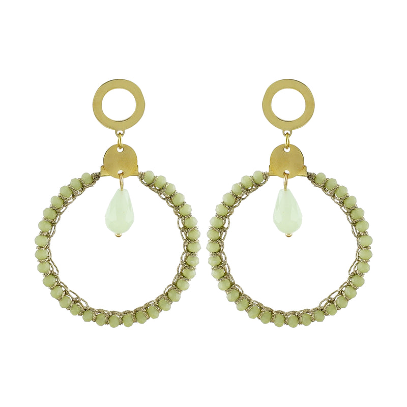 Lime & Gold Earrings