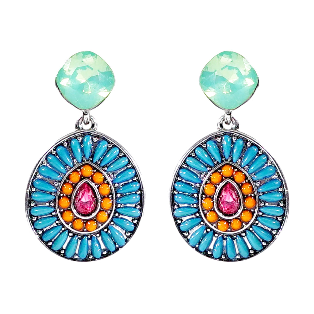 Multicolored Pendant Earrings