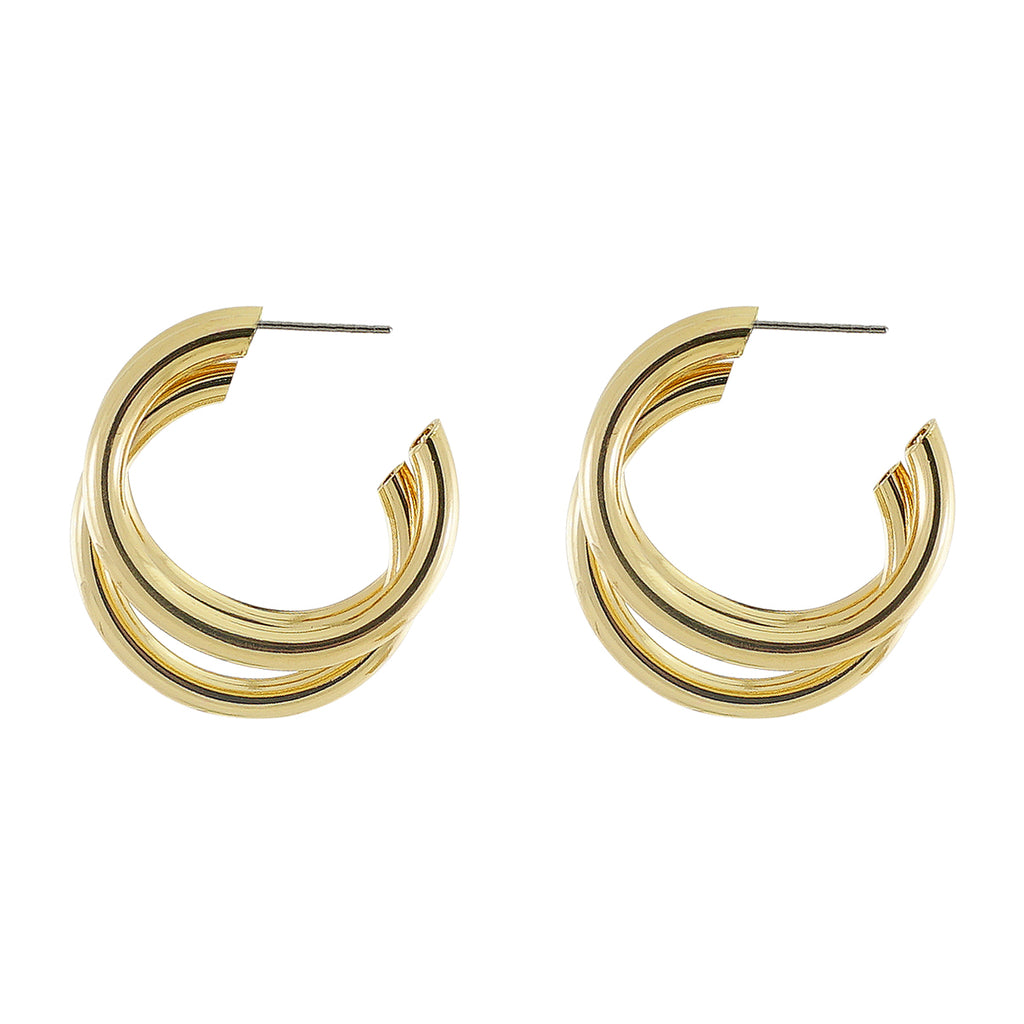 Golden Triple-Hoops
