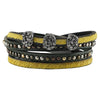 Black & Yellow Leather Bracelet