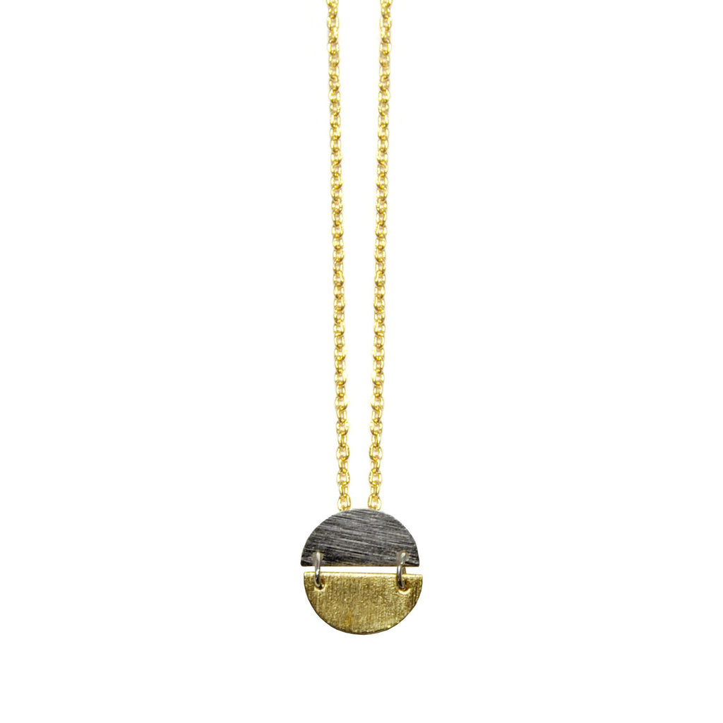 Necklace with Gold & Silver Pendant
