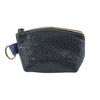 Dark Blue & Croco Leather Purse