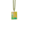 Green Necklace w/ Resin Print Pendant