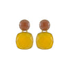Yellow Crystal Bug Earrings