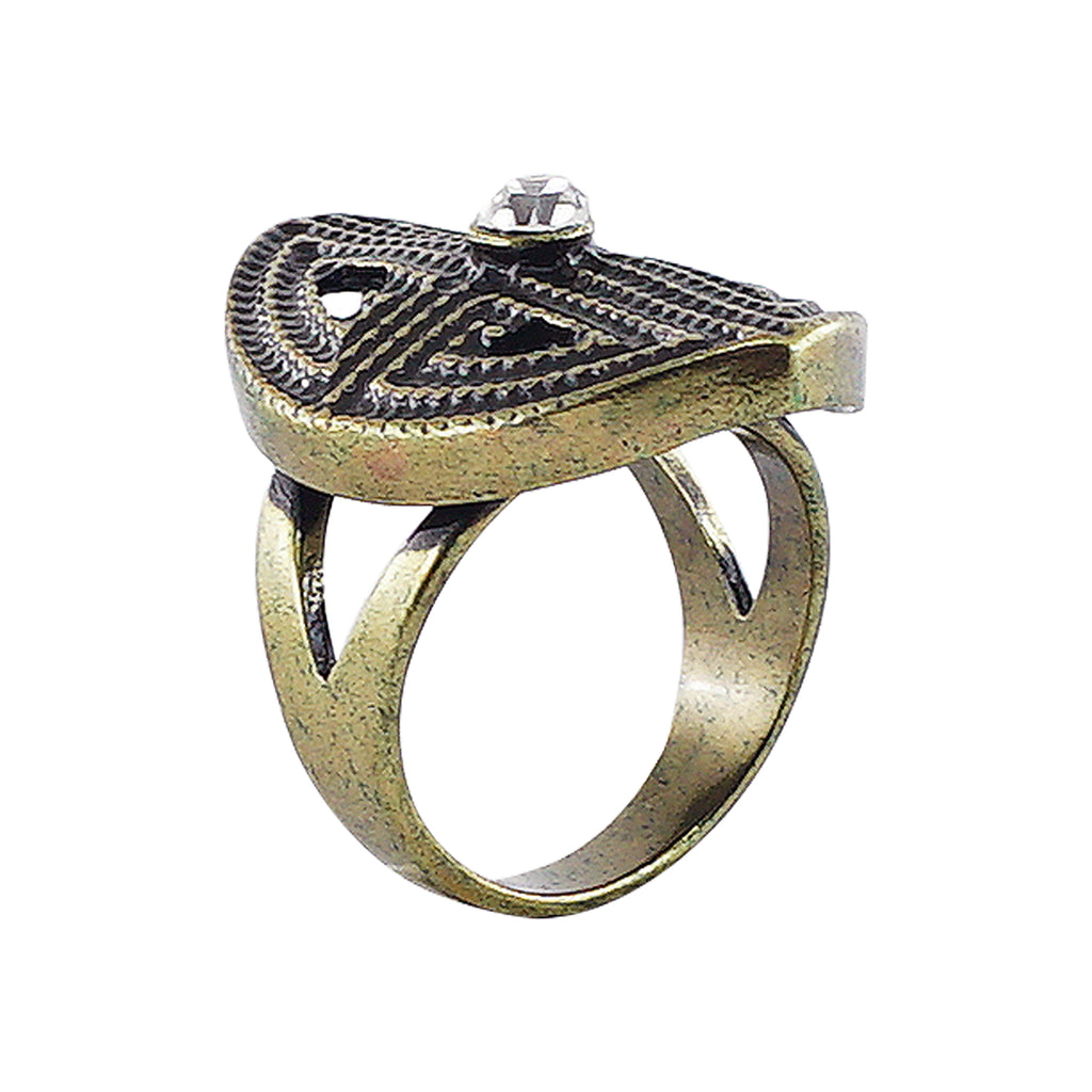 Brass Ring w/ Crystal