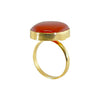 Golden Ring w/ Orange Stone