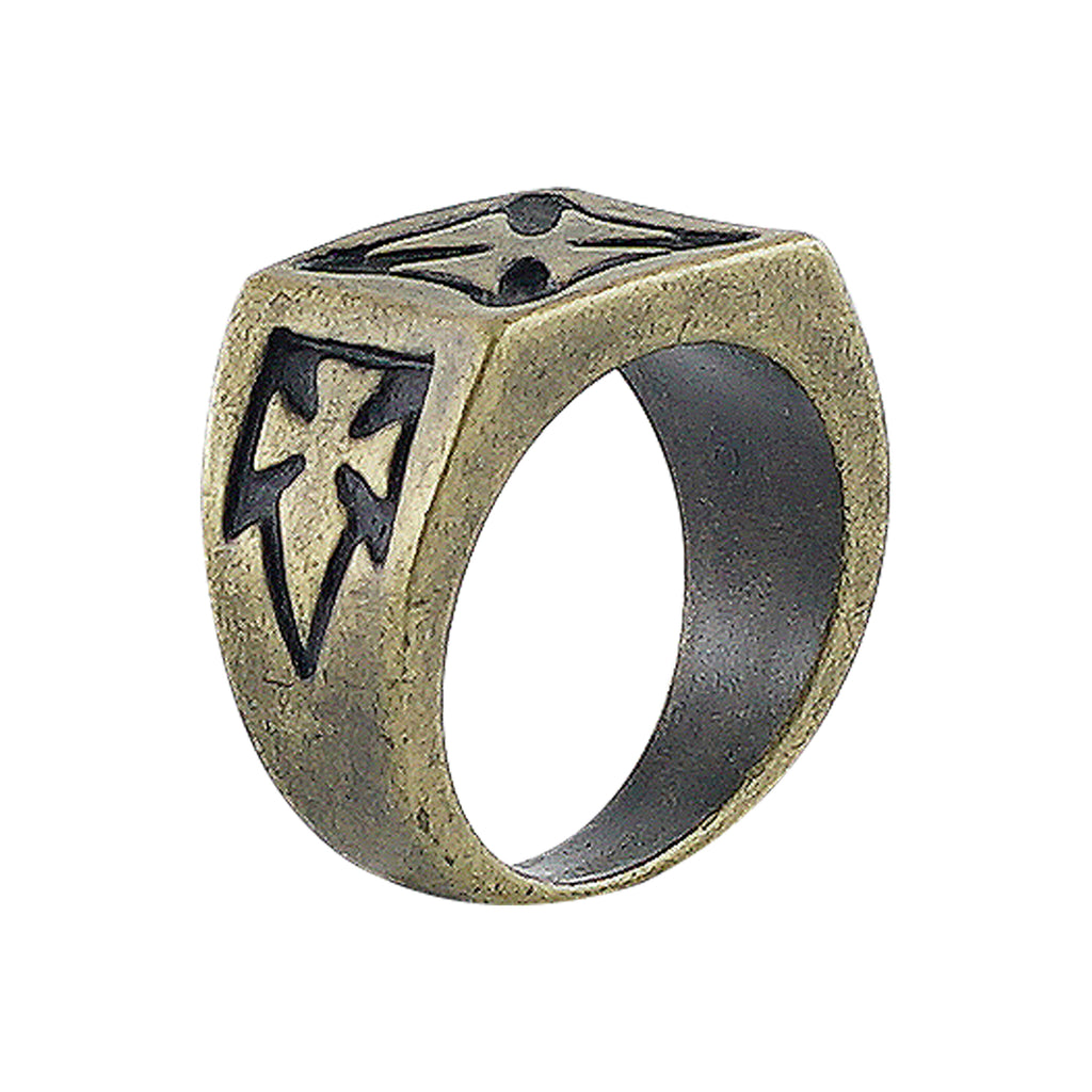 Brass Ring w/ Crosses