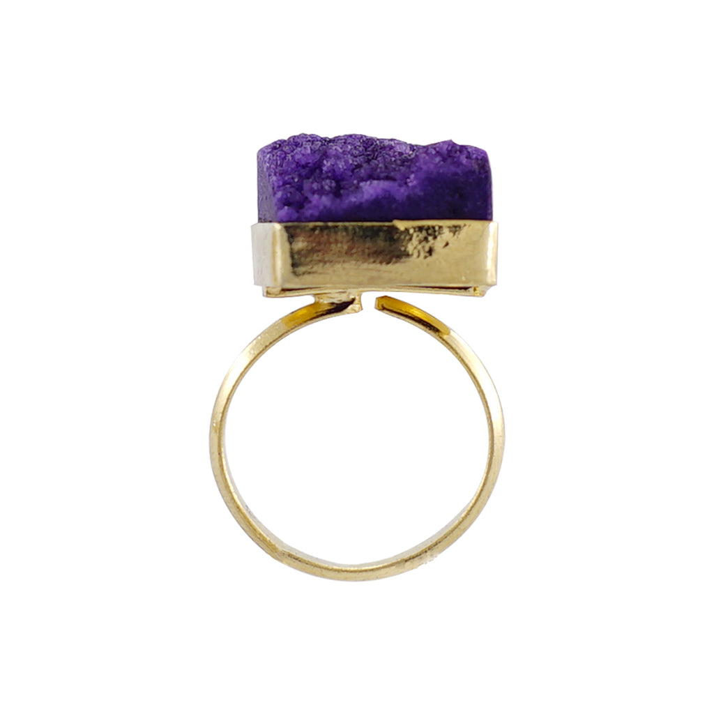 Golden Ring w/ Purple Stone